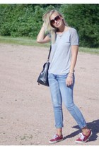 denim Yesstyle jeans - Primark shoes - knit Yesstyle shirt - thrift Bag bag