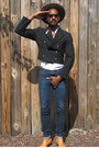Brown-boots-blue-jeans-brown-hat-black-jacket-white-shirt