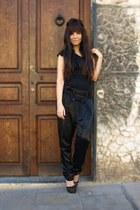 black Aldo bag - black Zara t-shirt