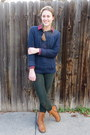 Brown-carrini-boots-navy-old-navy-sweater-red-flannel-ll-bean-shirt