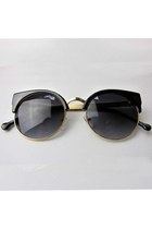 Vintage Metal Cat-eye Frame Sunglasses