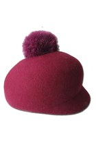 Wool Embellished Pom On Top Hat