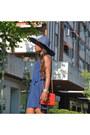 Zara-shoes-blue-juan-blanco-dress-red-chanel-bag