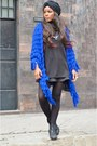 Black-bershka-sweater-black-chanel-bag-blue-bershka-skirt