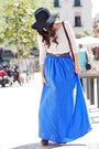 blue Zara skirt