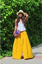 yellow vintage pants