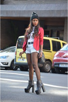 black Fanatic boots - red Stradivarius jacket - black Chanel bag