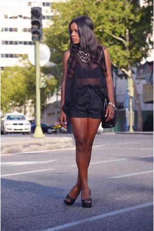 black DIY blouse
