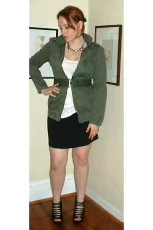 I heart ronson jacket - thrifted belt - forever 21 top - DIY inspired by marquis