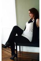 vintage via Ebay shoes - Newport News leggings - forever 21 top - Ann Taylor Lof