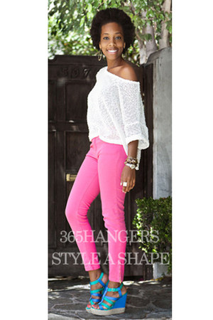 hot pink Style A Shape Contest jeans