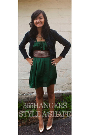 green 365HANGERS STYLE A SHAPE CONTEST dress