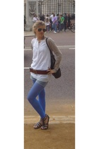 Zara blouse - Bimba&Lola shoes - vintage belt