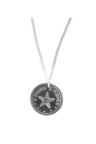 Long Sea Star sterling silver 925 coin pendant neckace, 80cm long chain