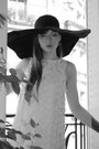 Cream-topshop-dress-black-atmosphere-hat
