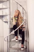 Prada shoes - Anton Heunis necklace - Zara pants - acne top