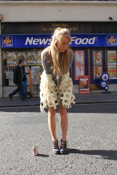 white villakivi design cardigan - gray COS cardigan - brown  shoes