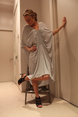 silver martin margiela dress - black Bebe shoes