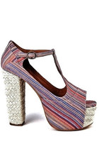 JEFFREY CAMPBELL FOXY ESP - Multi Stripes