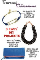 blue ettika bracelet - navy asos purse - black Marc by Marc Jacobs necklace