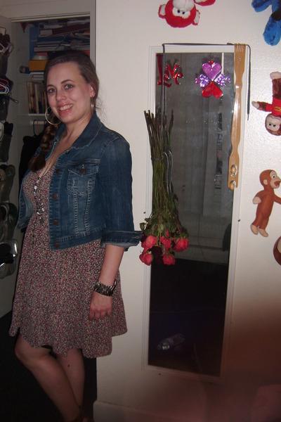 denim jacket with dress. 21 dress - denim jacket