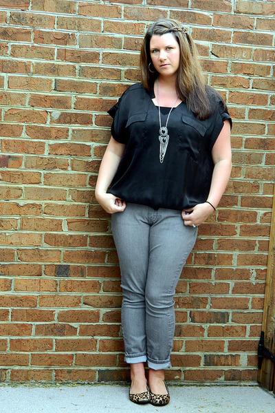 Charlotte Russe necklace - Old Navy jeans - francescas top - Target flats