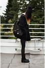 Black-faux-horse-hair-choies-boots-navy-knit-lifetime-collective-hat