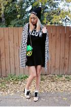 white 2020AVE shoes - white Forever 21 coat - black Forever 21 sweater