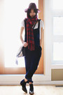 Navy-velvet-to-be-announced-boots-black-romwe-bag-navy-velvet-choies-pants
