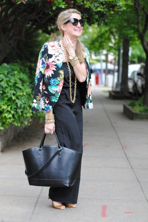 black Zara bag - bubble gum H&M blazer - black Target jumper