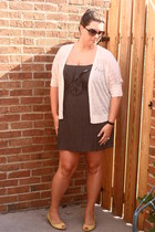 Francescas Collection dress - Payless heels - Ann Taylor Loft cardigan