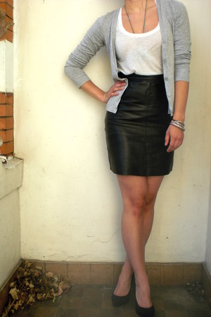 leather vintage skirt