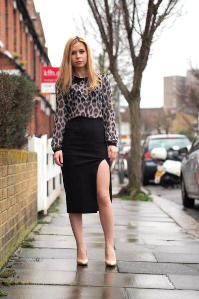 asos skirt - Steve Madden heels