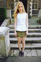 H&M skirt - Glamorous top - Urban Outfitters heels