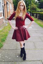Ebay skirt - next boots - Ebay top