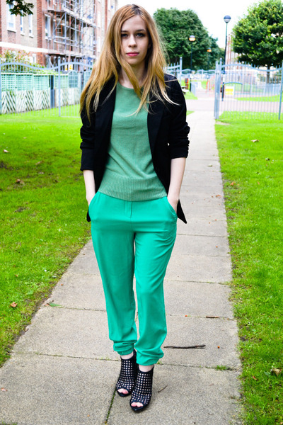 vintage sweater - Seashells vintage blazer - asos pants