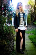 H&M shirt - Miss Selfridge jacket - H&M top - Ebay skirt
