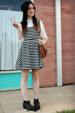 Forever 21 boots - asos dress