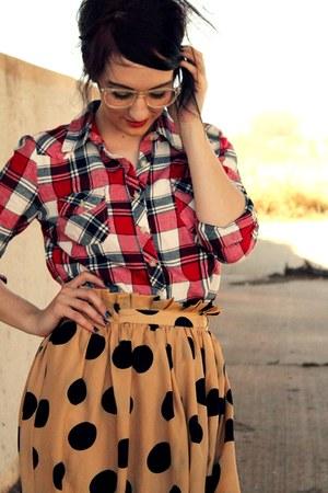 Windsor Store skirt - Forever 21 top - Target glasses