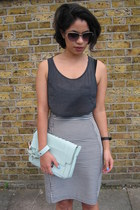 high-waisted COS skirt - asos bag - Chloe sunglasses