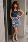 White-forever-21-skirt-blue-forever-21-top-blue-american-eagle-top-beige-a