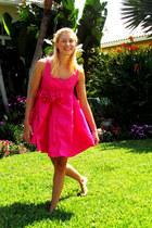 hot pink Abathie Design dress