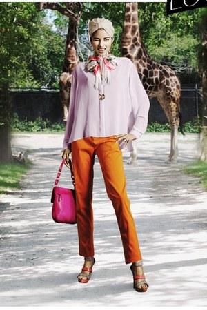 Zara pants - Chanel necklace