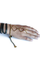 Brass-leather-bracelet