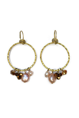 gold pears earrings