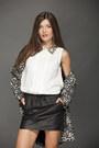 Black-leopard-mango-jacket-white-mango-shirt-black-leather-mango-skirt