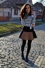 Black-zara-boots-white-stripes-zara-blouse-brown-zara-skirt