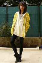 American Apparel jacket - Uniqlo sweater - American Apparel shirt - Topshop shoe