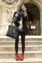 caroll jacket - united colors of benetton sweater - American Apparel dress -  ti