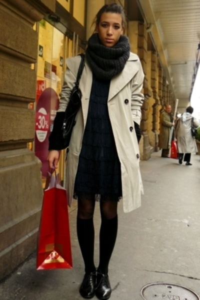Zara coat - H&M dress - H&M socks - Minelli shoes - H&M scarf